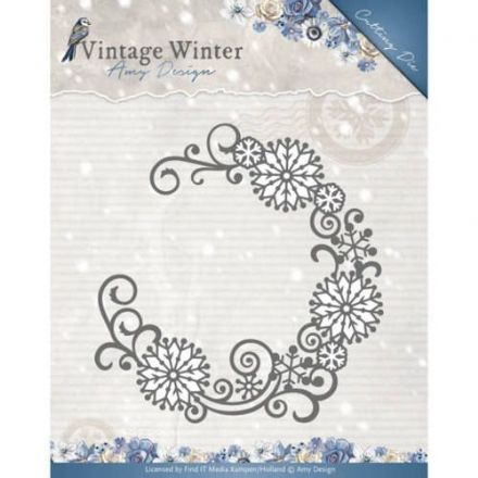 ADD 10122 ~ Snowflake Swirl Round die ~ Vintage Winter
